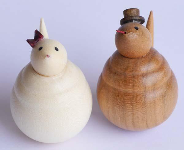 【木製雑貨】【木製縁起置物】 起き上がり へび (セットではありません)