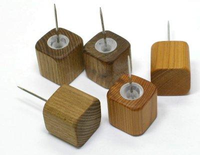 【木製文具】【木の押しピン】 木のピン 小