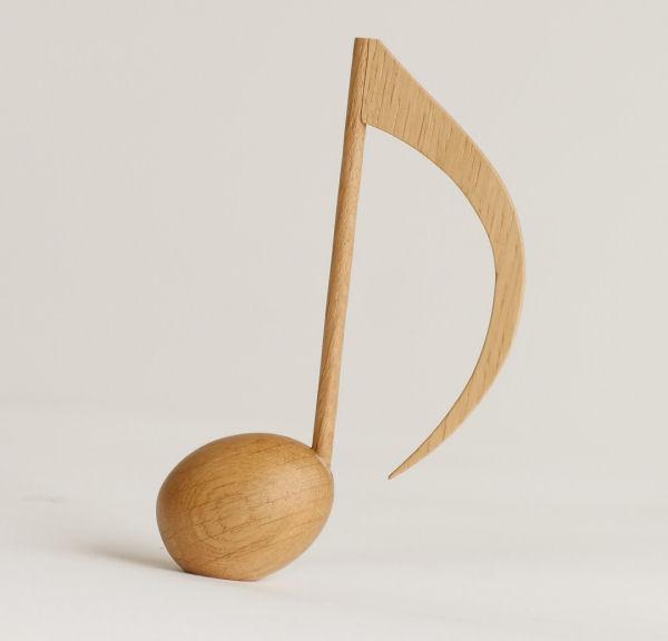 【木製文具】【木の文鎮】 メロディウェイト 8分音符 ナラ