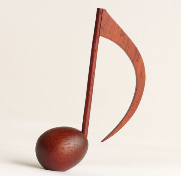 【木製文具】【木の文鎮】 メロディウェイト8分音符 パドック