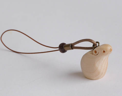 【木製雑貨】【木のストラップ】 ストラップ・ナキウサギ