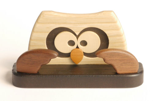【木製雑貨】【木のめがねスマホ置き】 メガネ・スマホスタンドふくろう