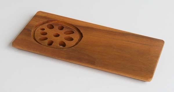 木製キッチン用品 木の皿 れんこんプレートS
