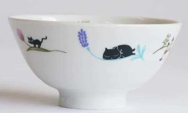 【陶器】【食器】お茶わんねこFLOWER