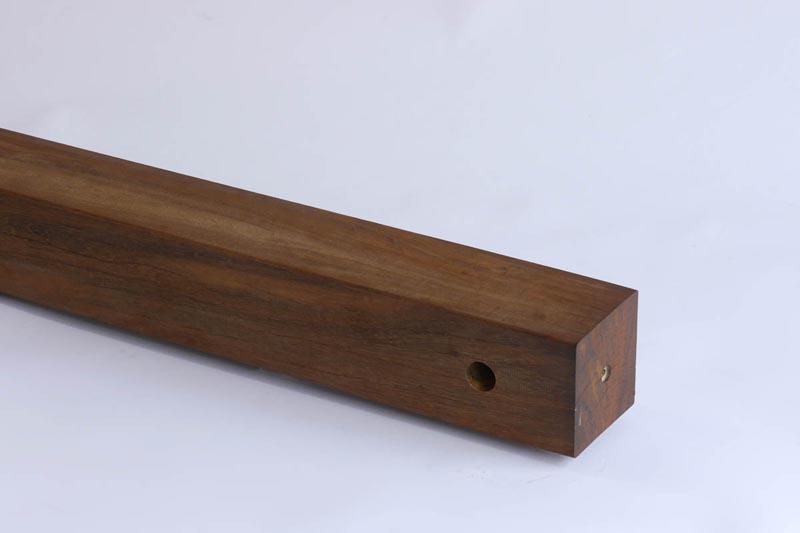 ウッドデッキ用ウリン 手すり柱  770mm 【人工木より強いウリン!】【日本製】