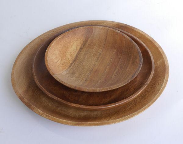 【木製キッチン用品】【木の皿】 ラウンドプレートL