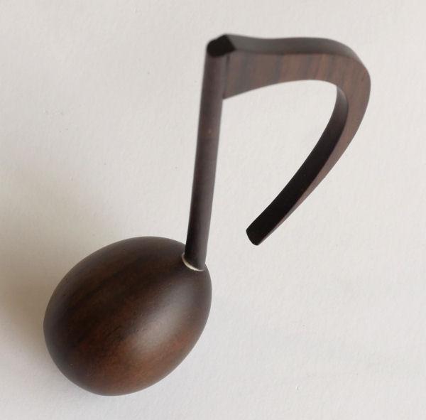 【木製文具】【木の文鎮】 メロディウェイト 8分音符 ローズ