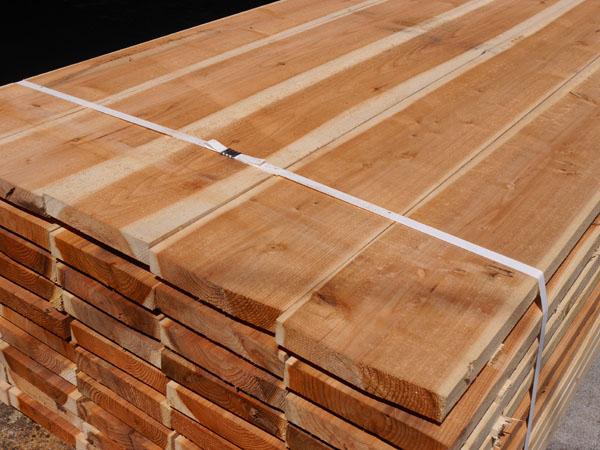 杉足場板 (片面波釘入り)  3M×35mm×200mm 【お引き取り商品】 材質スギ