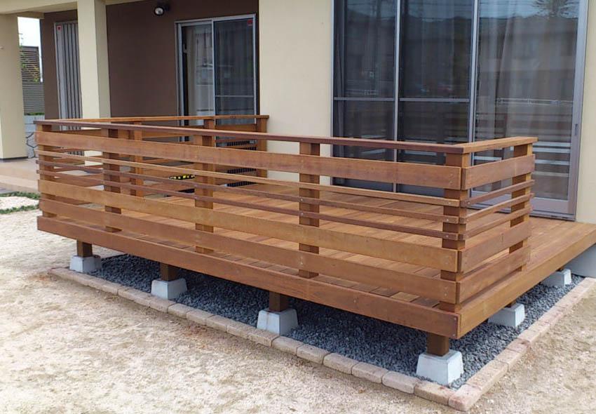 3555×1230mm SS-28 床板:縦張  人工木より強いウリン材利用のキットデッキ!【日本製】
