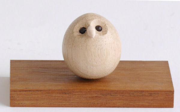【木製雑貨】【木製縁起置物】 起き上がりふくろう