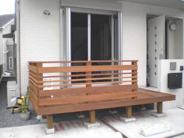 【 1.1M 】横板6枚セット ウリン材利用のキットデッキ専用手すり 日本製