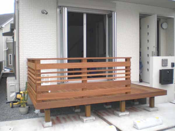 【 1.5M 】横板6枚セットウリン材利用のキットデッキ専用手すり 日本製