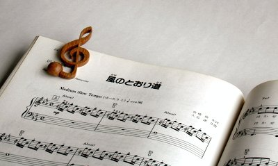 【木製文具】【木のクリップ】 音符クリップ 8分音符:カリン