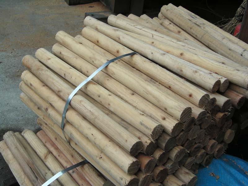 杉丸太(皮剥き) 0.7M~0.9M  60mm 1本