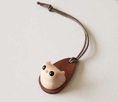 【木製雑貨】【木のホルダー】 モモンガホルダー