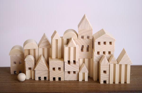 木製玩具 木の積み木  つみきタウン ミニ