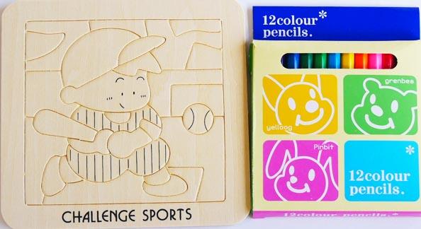木製玩具 木のパズル ぬりえパズル5種