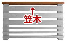 笠木・ウリン 1500×30×120mm キットデッキ用手すり部材高耐久日本製