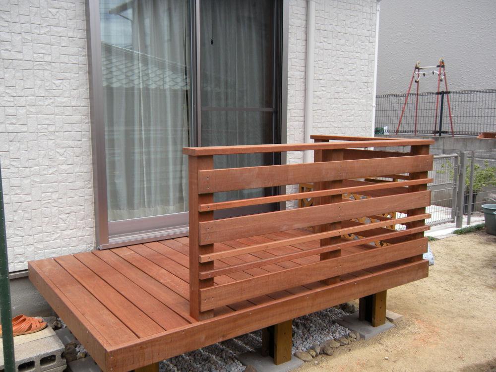 横板セット 1.1M【キットデッキ用手すり材質イタウバ/アマゾンジャラ 日本製】