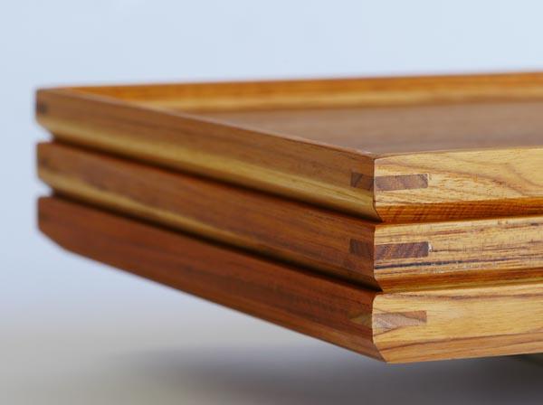 木製キッチン用品 お盆 カフェトレイ