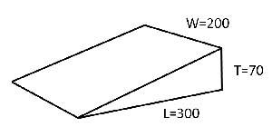 300×75×200 キャンバー6個セット 0307 土木仮設材くさび(単位ミリ)