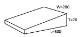 300×30/70×200 刃先残し型キャンバー6個セット 0308 土木仮設材くさび(単位ミリ)