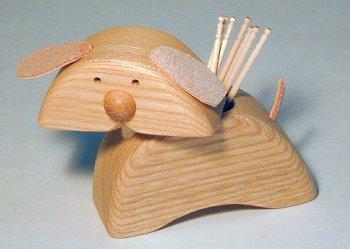 【木製キッチン用品】【木製楊枝入れ】 どうぶつ楊枝入れ