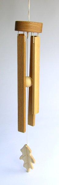 【木製雑貨】【木のドアベル】 ウッドチャイム リーフ