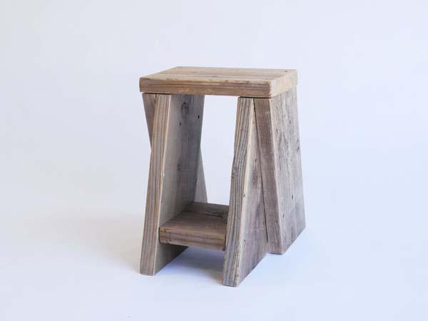 【木製イス】【木のスツール】つなげるガーデンスツール つなぐとベンチ 天然木 杉 自然木 室内スツール 踏み台
