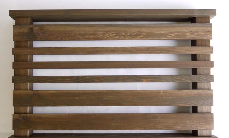 横ストライプ用羽目板90 0.8M 【キットデッキ専用手すり材質レッドシダー 日本製】