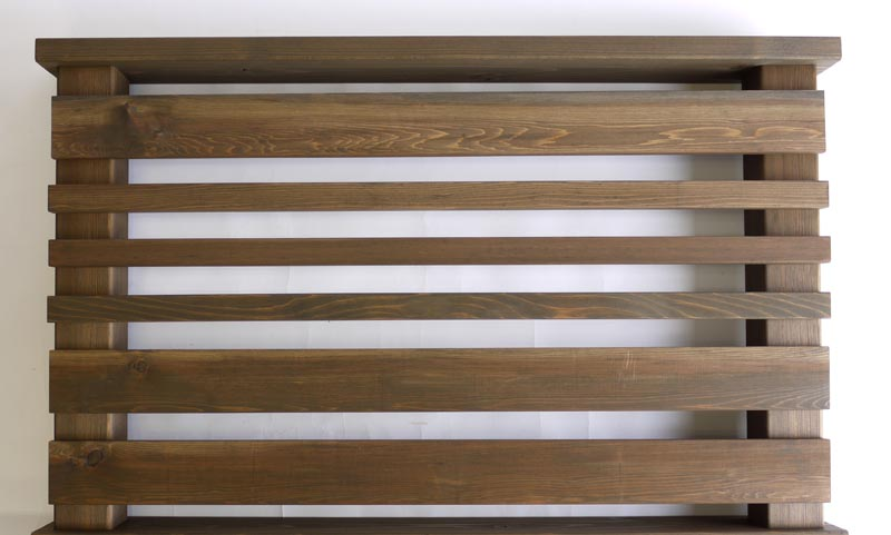 横ストライプ用羽目板90 1.1M 【キットデッキ専用手すり材質レッドシダー 日本製】