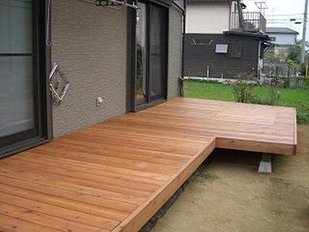 885x2790mm 【縦張】 キットデッキコンセ゛材質レットシダー日本製