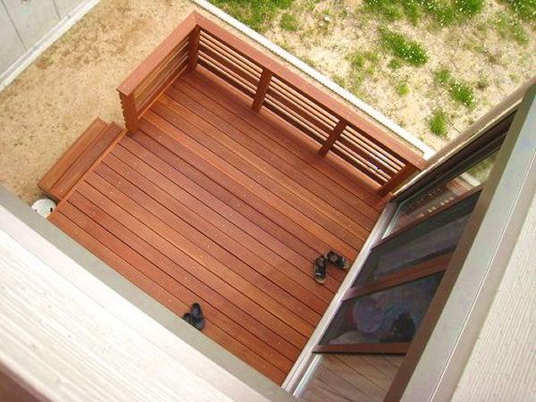 【 1.2M 】横板6枚セット ウリン材利用のキットデッキ専用手すり 日本製