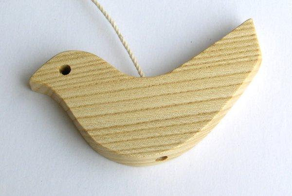 【木製雑貨】【木のドアベル】 ウッドチャイム トリ