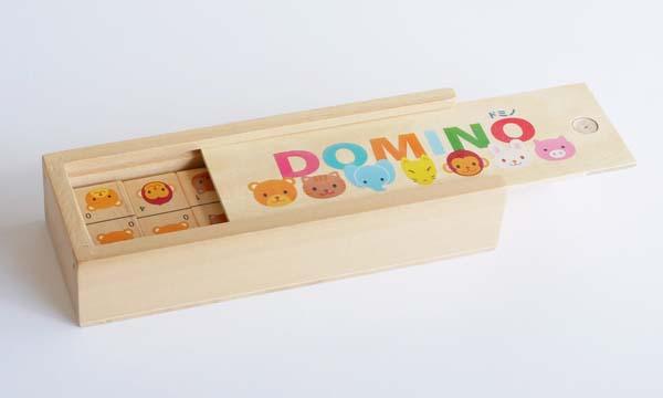 【木製玩具】木のドミノ ドミノ動物ゲーム