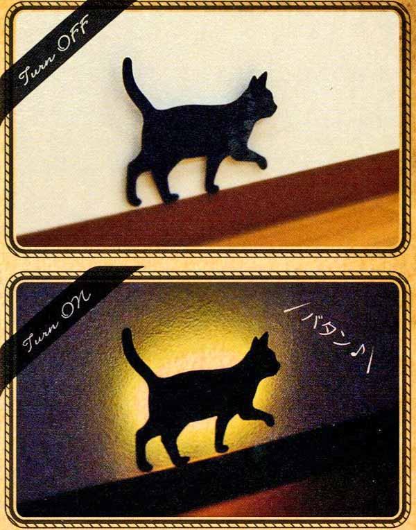 【雑貨】【ライト】 ウォールライト猫てくてく