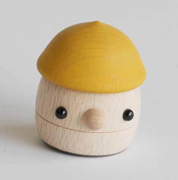 【木製玩具】【木の人形】 どんぐりころころ5色