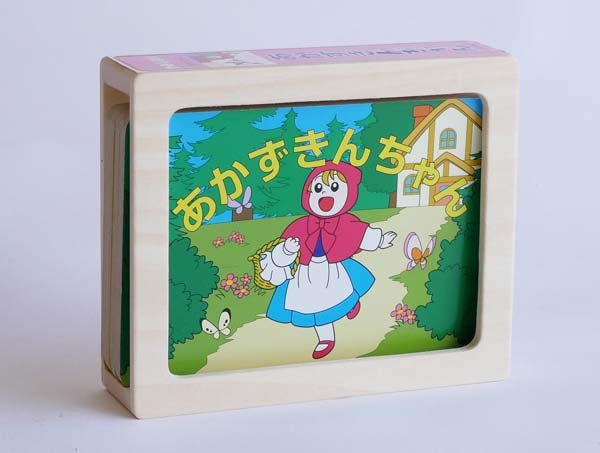 【木製玩具】【木の紙芝居】 かみしばい