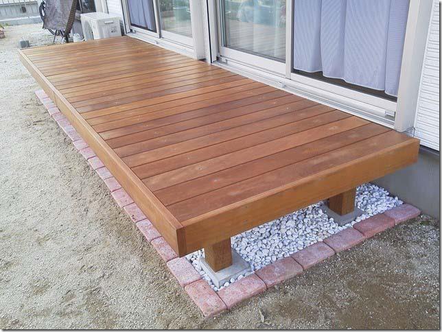 1805×1930mm S-14 床板:縦張  人工木より強いウリン材利用のキットデッキ!【日本製】