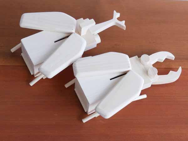 【木製玩具】【組立貯金箱】 昆虫貯金箱キット