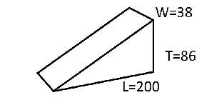 キャンバーL 18個1セット  仮設材 くさび 200×0/86×38ミリ  別注サイズはご相談ください。