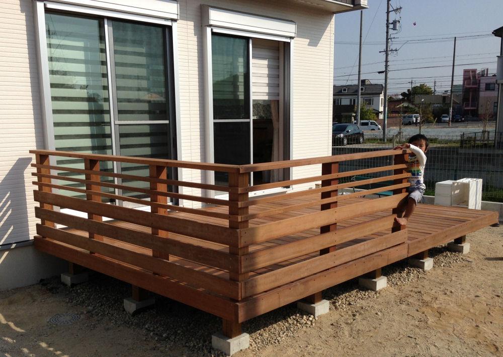 3055×1930mm S-24 床板:縦張  人工木より強いウリン材利用のキットデッキ!【日本製】
