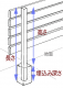ウリン柱高さ 1200mm用(全長1550mm) 45×70mm木製目隠しフェンス部材