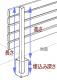 アルミ柱高さ  900mm用  (全長1150mm) 50mm角 木製目隠しフェンス 材質アルミ 日本製