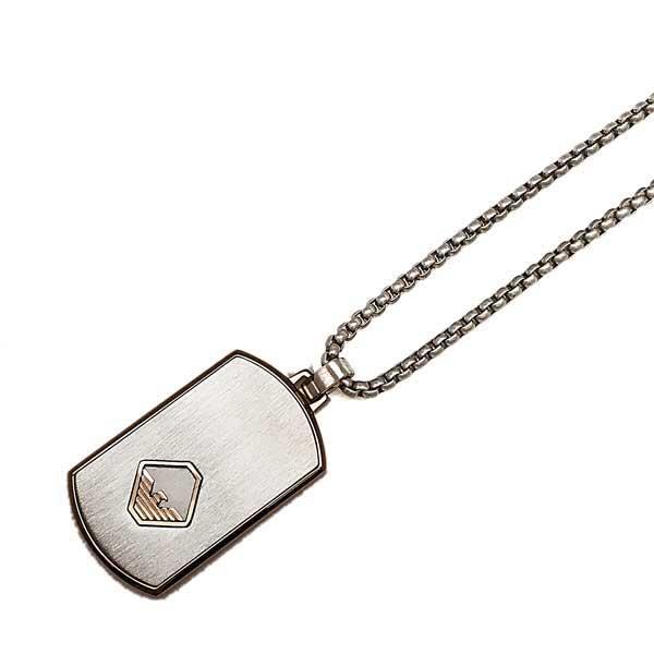 EMPORIO ARMANI ネックレス マットシルバー プレート EGS2634040