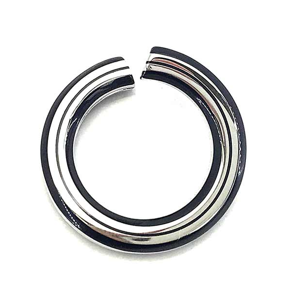 TORY BURCH リング・指輪【レディース】ロゴ ネイビー×シルバー 51078-024