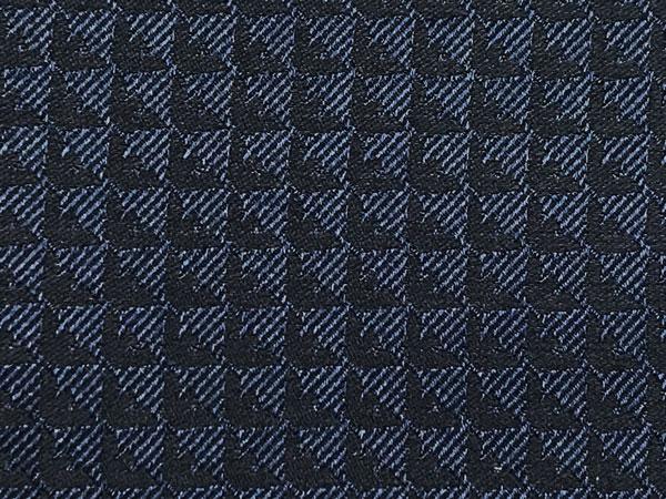 EMPORIO ARMANI ポケットチーフ 340033 イーグルロゴ柄 シルク  マリンブルー