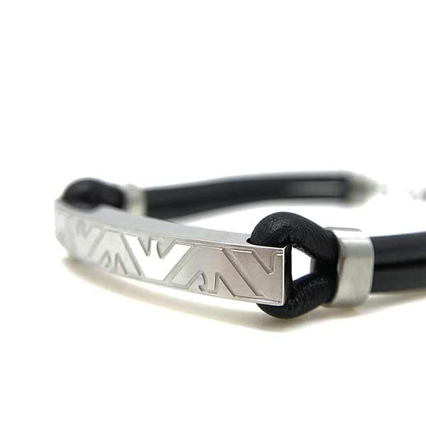 EMPORIO ARMANI ブレスレット ブラック×シルバー EGS2602040