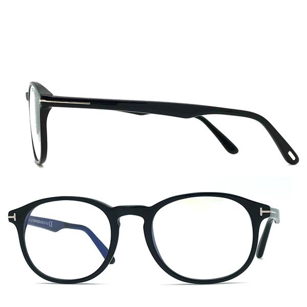 TOM FORD メガネフレーム ブラック 眼鏡 伊達メガネ用ブルーライトカットレンズ付 パソコン用 PCメガネ TF-5680B-001