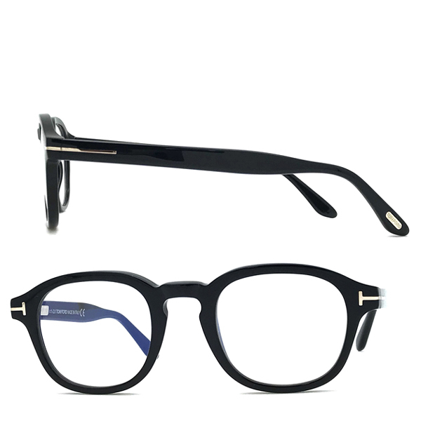 TOM FORD メガネフレーム ブラック 眼鏡 伊達メガネ用ブルーライトカットレンズ付 パソコン用 PCメガネ TF-5698B-001